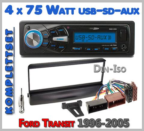 Ford Transit Autoradio Set geeignet von 1996-2005