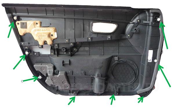 Mazda 3 Türverkleidung innen Befestigungen
