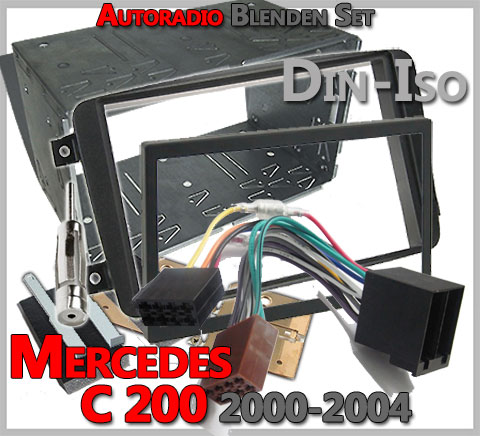 mercedes c 200 radioeinbauset 2000 2004 doppel din. Black Bedroom Furniture Sets. Home Design Ideas