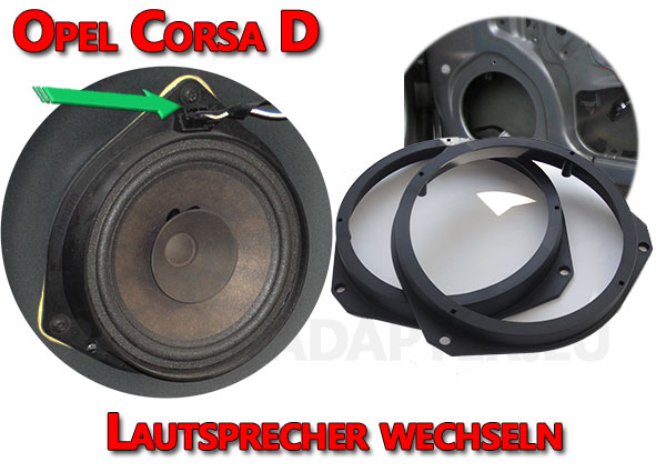 Opel Corsa D Lautsprecher wechseln in den vorderen Türen