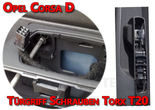 Opel-Corsa-D-Türverkleidung-Türgriff-Schrauben-entfernen