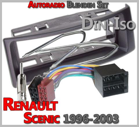 Radioblende Set Renault Megane Scenic ab 1995 Blende Rahmen Adapter Autoradio