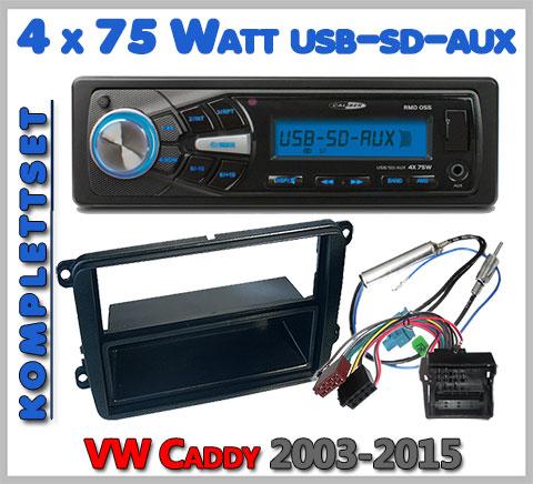 VW Caddy 2K Autoradio Set geeignet von 2003-2015