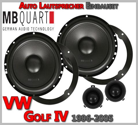 VW Golf IV Lautsprecher 2-Wege Hochtöner VW Design