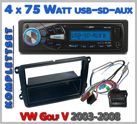 VW Golf V Autoradio Set geeignet von 2003-2015