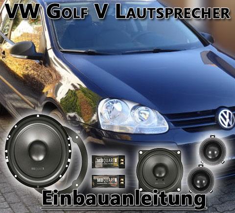 VW Golf V Lautsprecher ausbauen