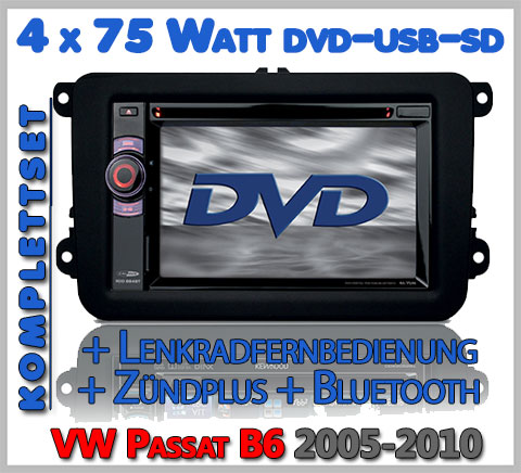 VW Passat B6 Autoradio Set DVD Bluetooth Lenkradfernbedienung