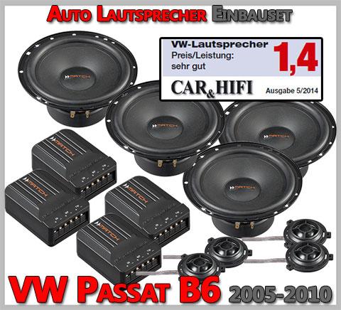 VW Passat B6 Lautsprecher Car-Hifi Note sehr gut hintere vordere Türen