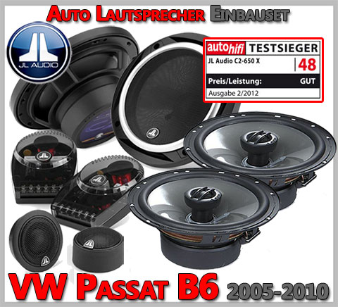 VW Passat B6 Lautsprecher Testsieger Oberklasse vorne hinten