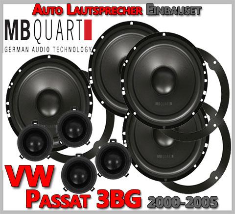 VW Passat Variant 3BG Lautsprecher Set für vier Türen