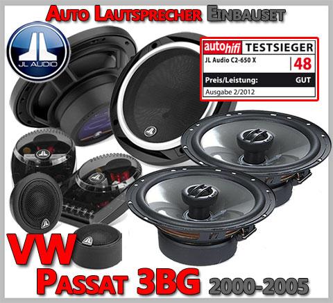 VW Passat Variant 3BG Lautsprecher Testsieger Set Oberklasse