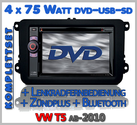 VW T5 Autoradio Set DVD Bluetooth Lenkradfernbedienung