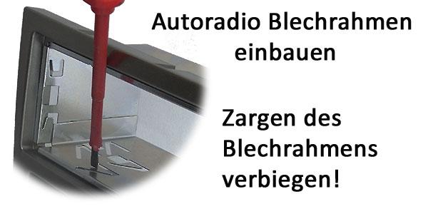 VW Touran Blechrahmen in Radioblende einbauen
