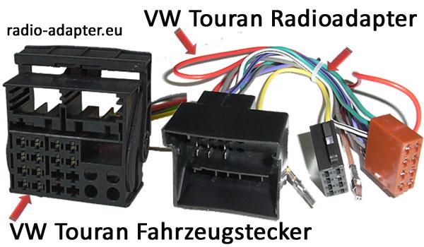 VW Touran Fahrzeugstecker und Radioadapter