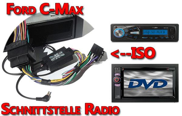 Ford C-Max Lenkradadapter Verbindungskabel Radio ford c-max lenkradfernbedienung anschließen Ford C-Max Lenkradfernbedienung anschließen ohne CAN BUS Ford C Max Lenkradadapter Verbindungskabel Radio
