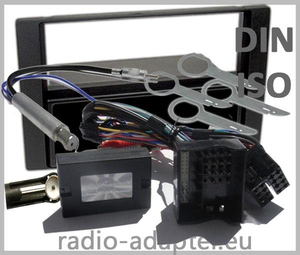 Ford Fiesta Lenkradfernbedienungsadapter mit Radio Einbauset anthrazit 1 DIN