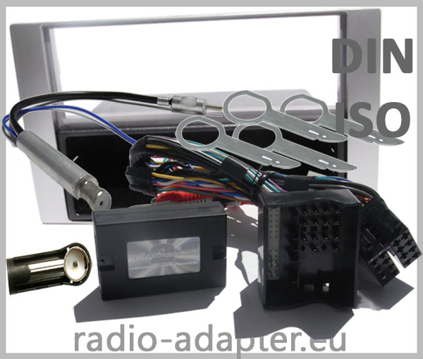 Ford Focus II Adapter für Lenkradfernbedienung mit Radioblenden Set Silber