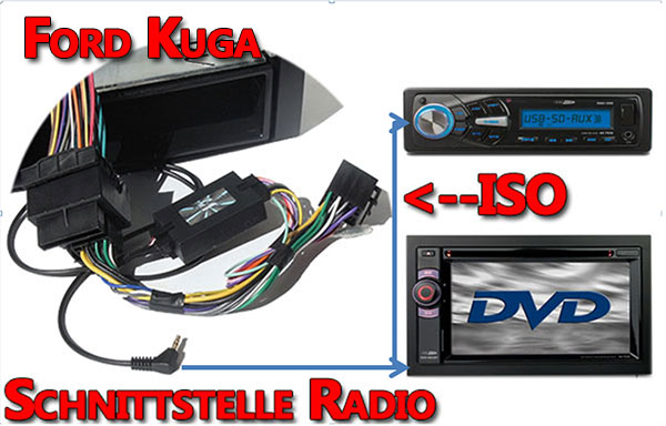 Ford Kuga Verbindungskabel Radio Lenkrad Adapter