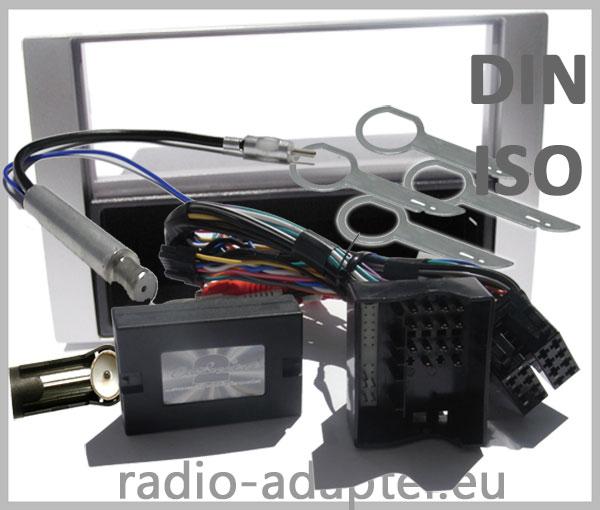 Ford S-Max Adapter für Lenkradfernbedienung mit Radioblenden Set Silber