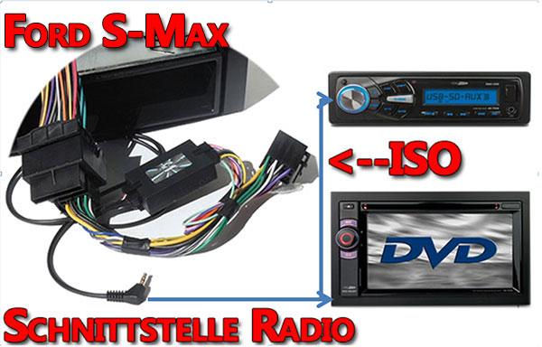 Ford S Max Verbindungskabel Radio Lenkrad Adapter ford s-max lenkradfernbedienung anschließen Ford S-Max Lenkradfernbedienung anschließen ohne CAN BUS System Ford S Max Verbindungskabel Radio Lenkrad Adapter