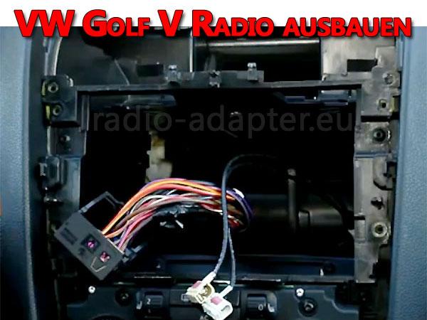 VW Golf V Radio ausbauen vw golf v lenkradfernbedienung anschließen VW Golf V Lenkradfernbedienung anschließen VW Golf V Radio ausbauen