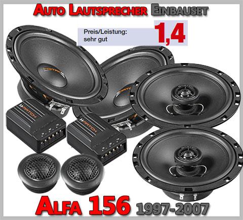 Alfa-Romeo-156-Lautsprecher-Set-vordere-hintere-Türen