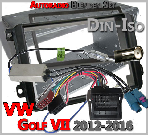 autoradio einbau tipps infos hilfe zur autoradio installation vw golf vii autoradio blenden. Black Bedroom Furniture Sets. Home Design Ideas