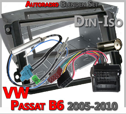 VW-Passat-B6-Radioblenden-Set-2005-2010-Doppel-DIN