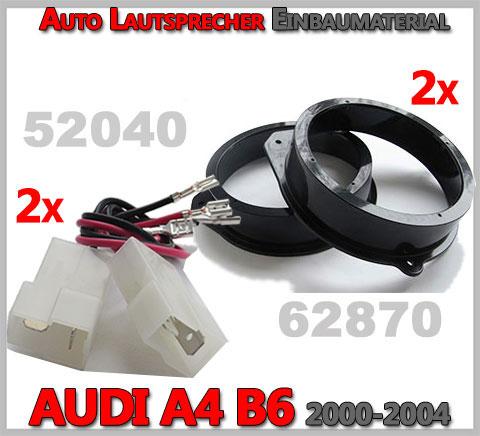 AUDI-A4-B6-Lautsprecher-Einbaumaterial-vordere-oder-hintere-Türen