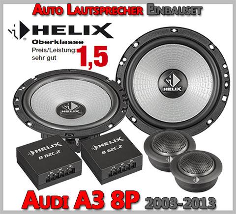 Audi-A3-8P-Lautsprecher-Oberklasse-vordere-Türen