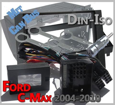 Ford-C-Max-Lenkradfernbedienung-Set-Doppel-DIN-CAN-BUS