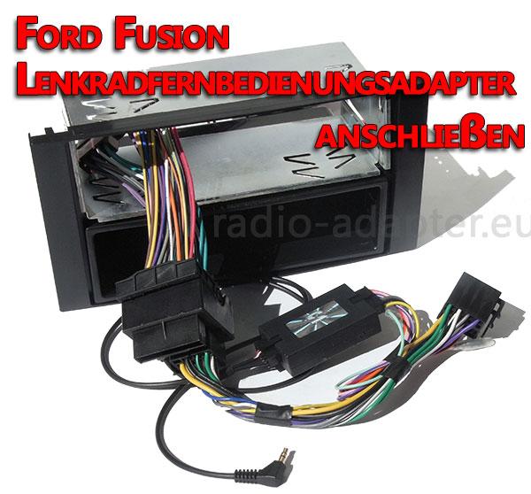 Ford-Fusion-Lenkradfernbedienungsadapter-anschließen Ford Fusion Lenkradfernbedienung nachrüsten ohne Can Bus Ford Fusion Lenkradfernbedienung nachrüsten ohne Can Bus Ford Fusion Lenkradfernbedienungsadapter anschlie  en