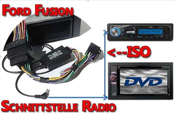 Ford-Fusion-Verbindungskabel-zum-Radio-Lenkrad-Adapter