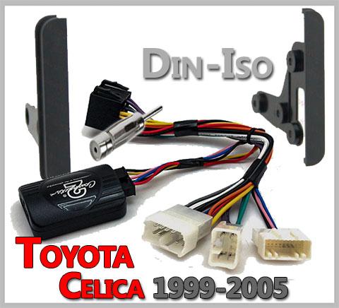 Toyota-Celica-Lenkradfernbedienung-2-DIN-Einbauset