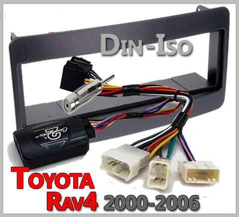 Toyota-RAV4-Lenkradfernbedienung-1-DIN-Radio-Einbauset