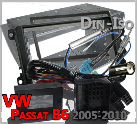 VW-Passat-B6-Lenkradadapter-2-DIN-Autoradio-Einbauset