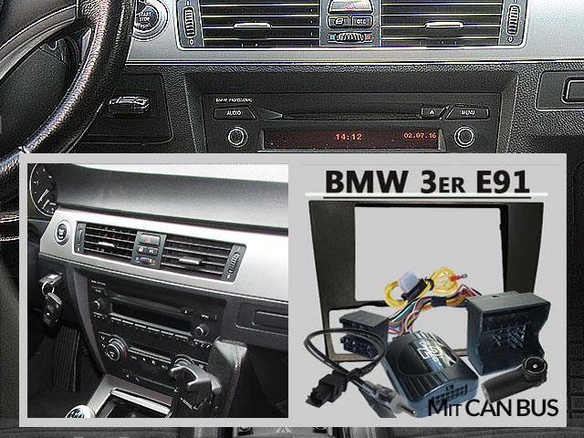 BMW-3er-Touring-E91-Radio-Tausch-1-DIN-oder-Doppel-DIN