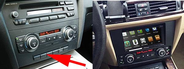 Umbau-von-1-DIN-auf-Doppel-DIN bmw 3er touring e91 radio tausch 1 din oder doppel din BMW 3er Touring E91 Radio Tausch 1 DIN oder Doppel DIN Umbau von 1 DIN auf Doppel DIN