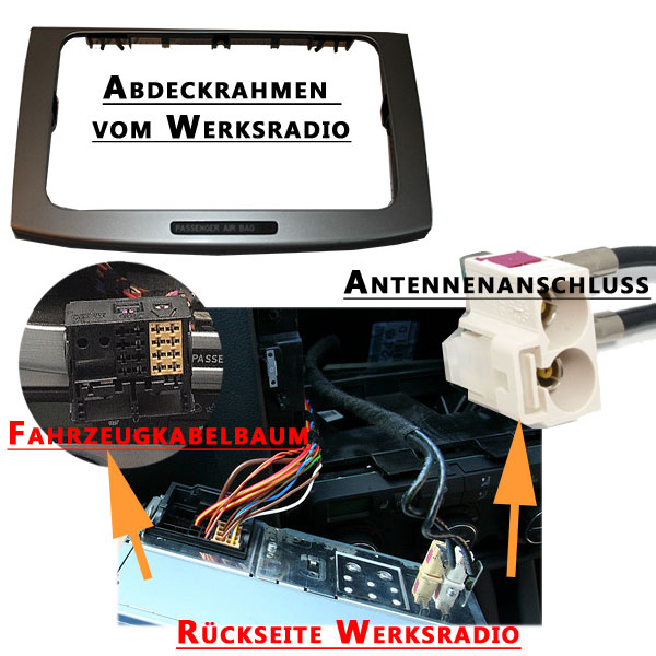 VW-Passat-B6-Autoradio-Anschlüsse-Radioschacht vw passat b6 fremdradio was wird benötigt VW Passat B6 Fremdradio was wird benötigt VW Passat B6 Autoradio Anschl  sse Radioschacht
