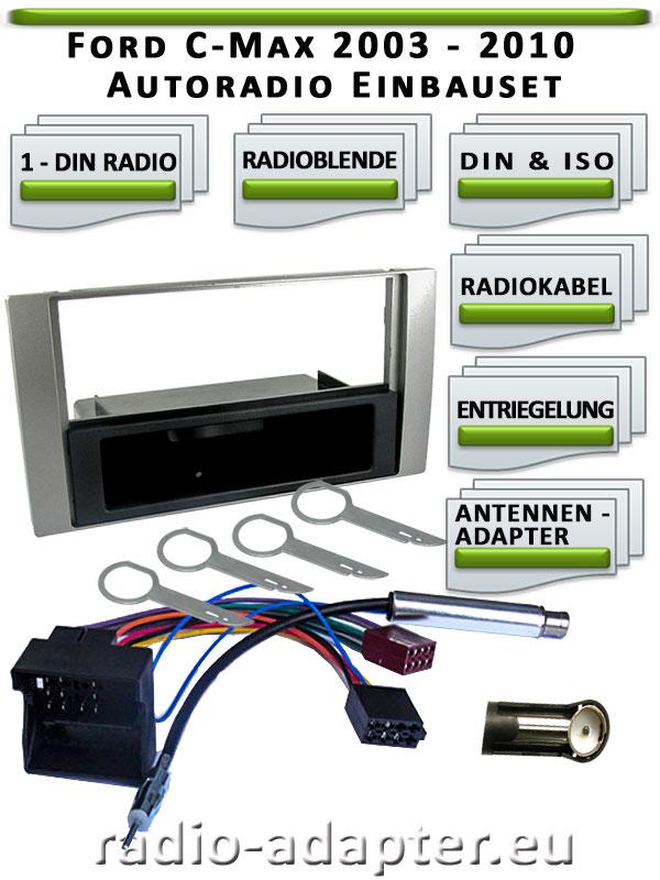 Ford-C-Max-Radioblende-1-DIN-silber