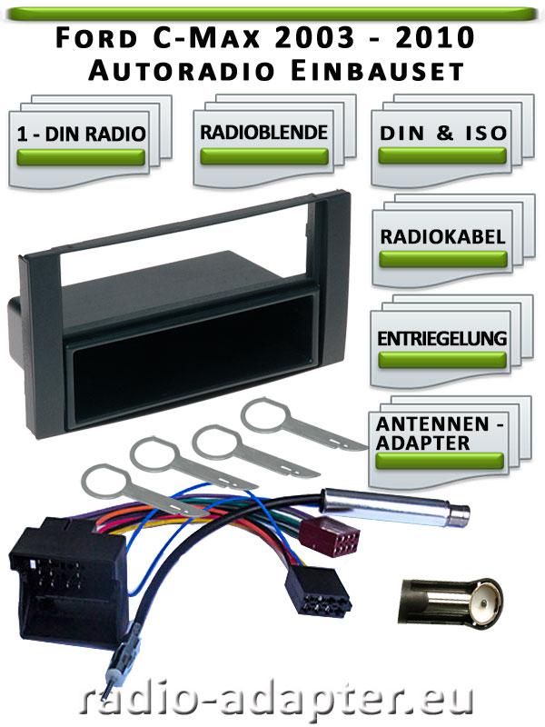 Ford-C-Max-Radioblende-1-DIN
