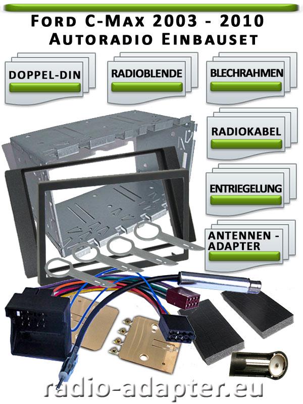 Ford-C-Max-Radioblende-Doppel-DIN