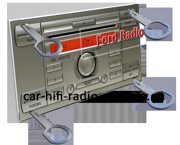 Ford-radio-6000CDsilber