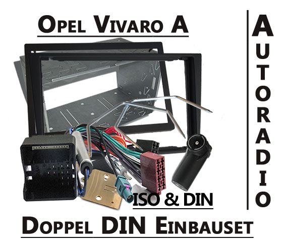 Opel-Vivaro-A-doppel-DIN-Autoradio-Einbauset