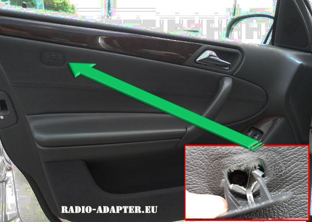 Mercedes-C-Klasse-SRS-Airbag-Schild