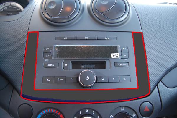 Aveo-Radioabdeckung