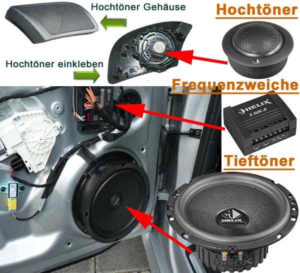 2-Wege-Lautsprecher-Fahrzeugspezifisch