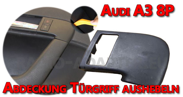 Audi A3 8P Türgriff Abdeckung aushebeln