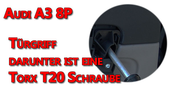 Audi A3 8P Türverkleidung Türgriff Schraube lösen