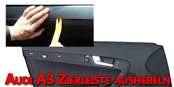 Audi A3 8P Türverkleidung Zierleiste aushebeln